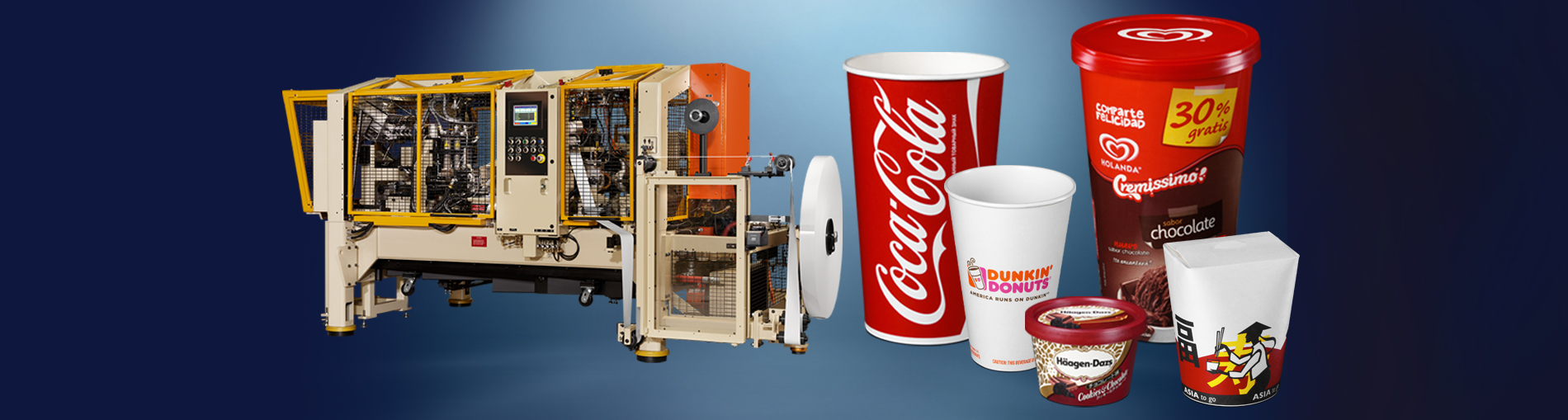 PMC is the world's leading source of cup and container forming machines